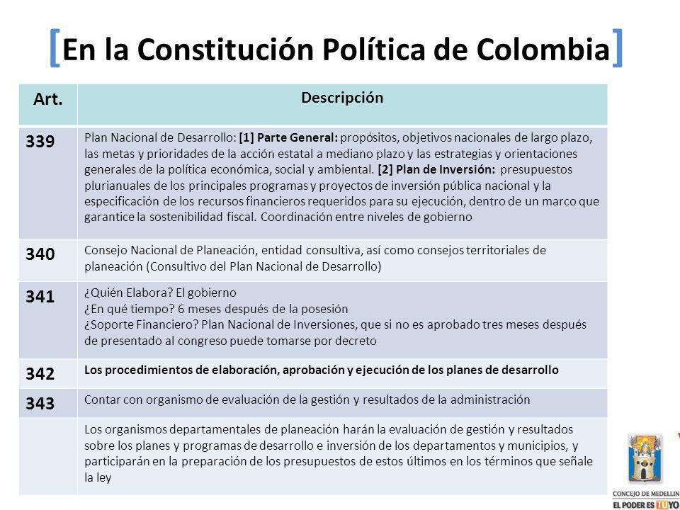 [En la Constitución Política de Colombia]